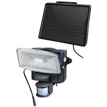 Brennenstuhl LED-zonnecelspot SOL 80 plus IP44 met infrarood bewegingsmelder 8xLED 0,5W 350lm Kabel lengte 4,75m Kleur Zwart