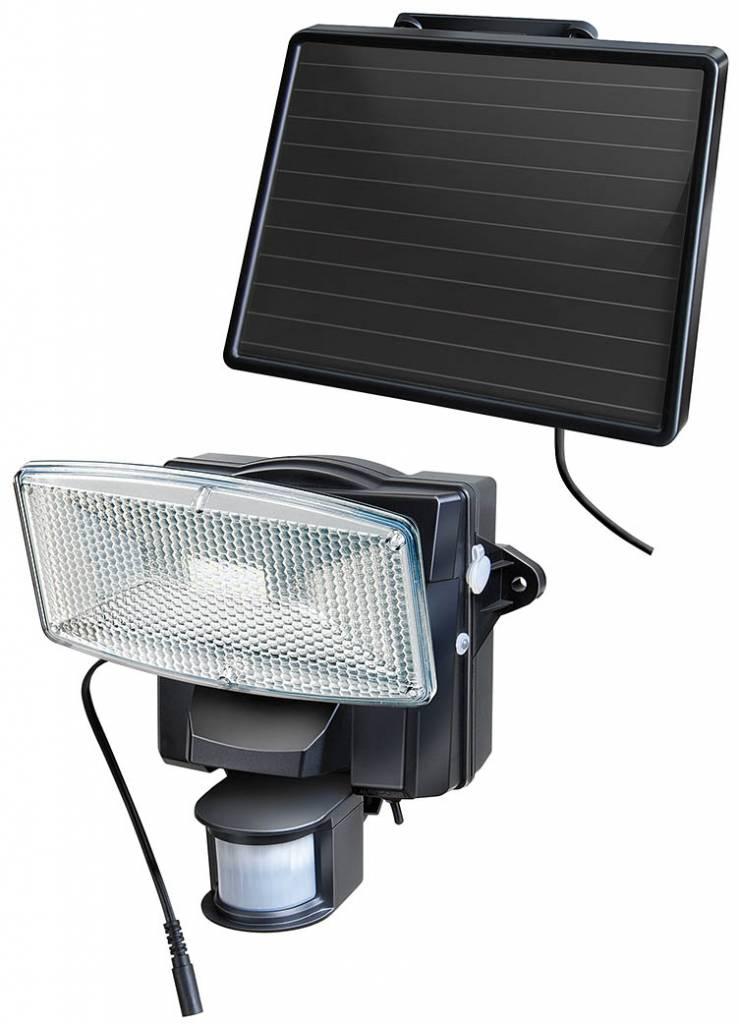 Buitenlamp met bewegingsmelder zonnepaneel accu zwart for Lampe solaire interieur