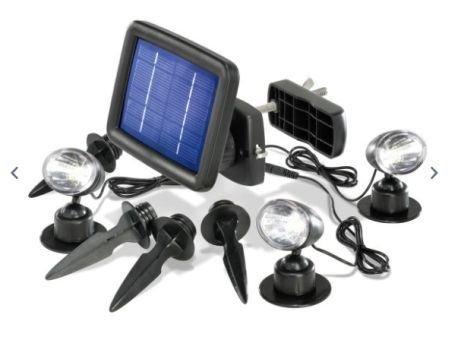 Solar Inbouwspots Tuin : Led tuinspots met zonnepaneel en accu nieuw
