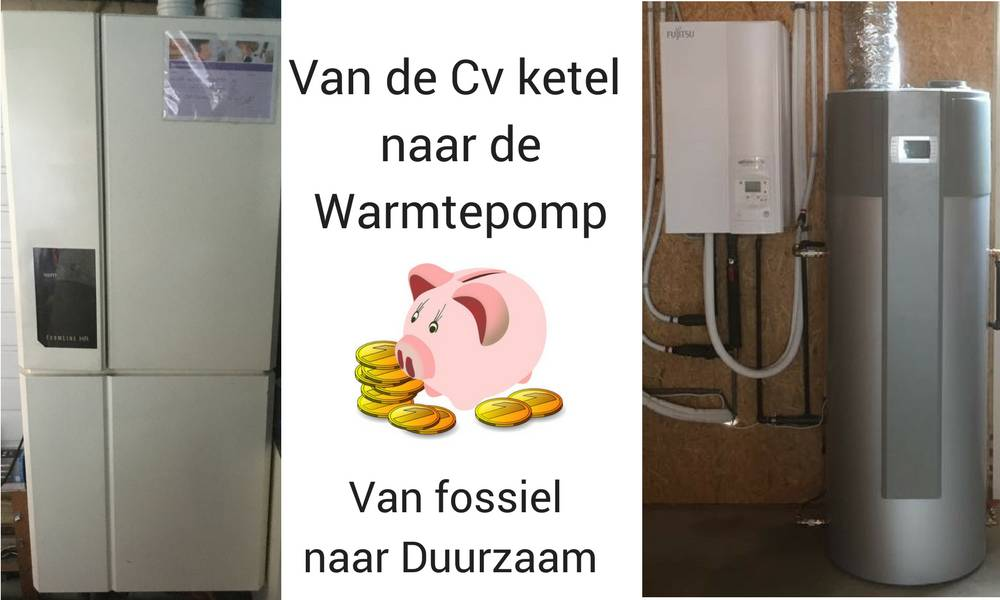 De Cv ketel vervangen door een Warmtepomp