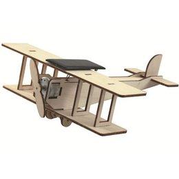 Solexpert Dubbeldekker Vliegtuig met Zonnepaneel
