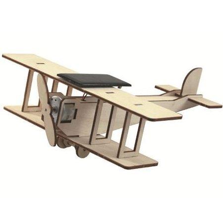Solexpert Bouwpakket dubbeldekker Vliegtuig met Zonnepaneel