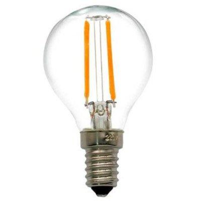 QUALEDY® LED E14-G45-Filamentlamp - 2W  - Dimbaar
