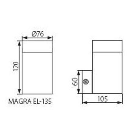 Kanlux Muurlamp voor buiten (IP44) - max. 1x 35W