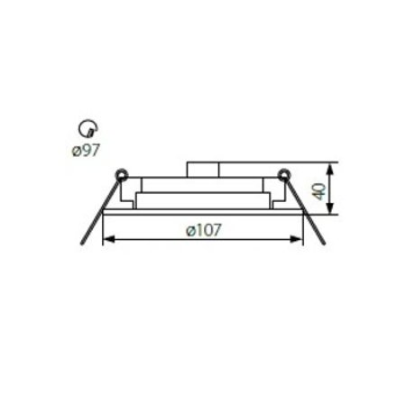 Kanlux Armatuur GX53 - rond/vierkant - Wit - 75mm