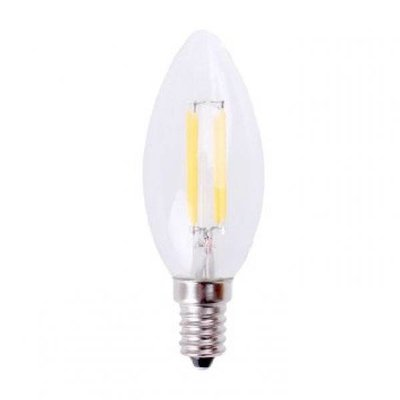 QUALEDY LED E14-Filament kaars lamp - 4W