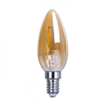 QUALEDY LED E14-Filament - C35 - 4W - 2400K - 400Lm - Goud - Dimbaar