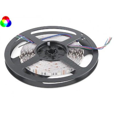 QUALEDY® LED Strip - RGB - SMD5050 - 7,2W/m - 5m + DC12V - IP20