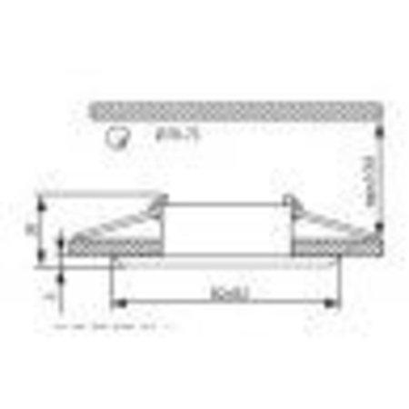 Kanlux Armatuur EVIT rond 50mm (RVS-mat)