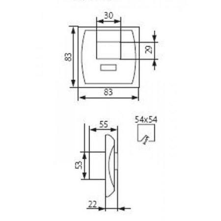 Kanlux LED PIR Bewegingssensor - Inbouw (max. 1200W) - IP20 - Wit