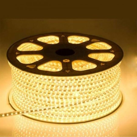QUALEDY® LED Strip 230V - Warm wit - 10W/m - 2700K - 60xSMD5050/m - 1m - 350Lm/m - IP66
