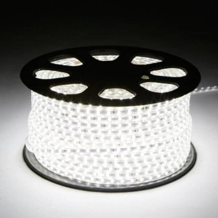 QUALEDY® LED Strip 230V - Koelwit - 10W/m - 6000K - 60xSMD5050/m - 1m - 350Lm/m - IP66