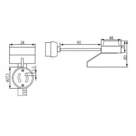 Kanlux GU10 fitting houder