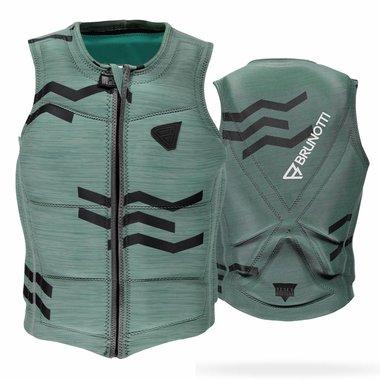 Brunotti 2017 Brunotti Zigzag Wakevest FZ Men Technical Vest | Granite Green