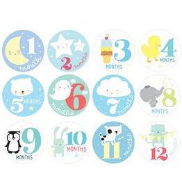 Milestone stickers: Little boys