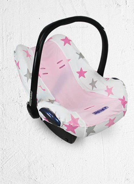 Dooky Seat Cover Pink Stars