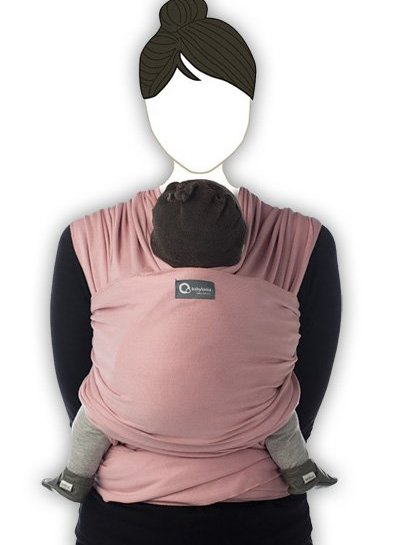 Babylonia Tricot Slen Organic Draagdoek Soft Pink