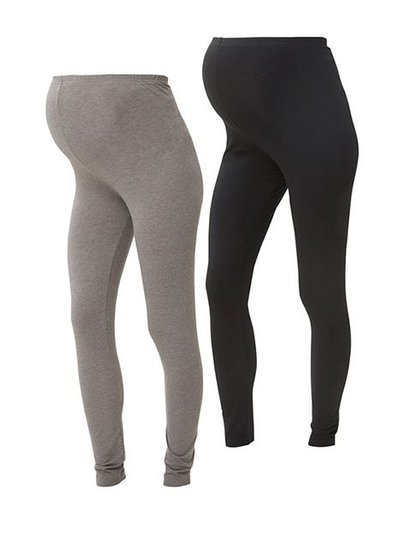 Mama Licious Lea Organic Legging Duo-Pack Black & Grey