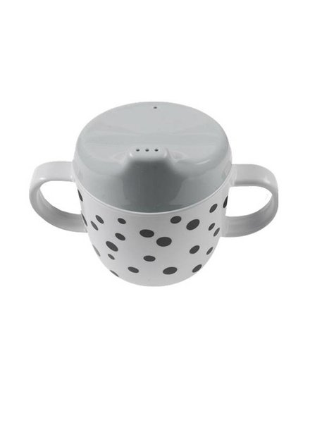 Done By Deer 2-Handle Cup Happy Dots Grey