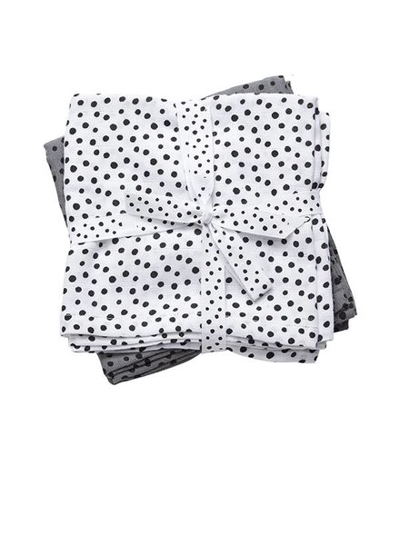 Done By Deer Burp Cloth Happy Dots Grey 70x70