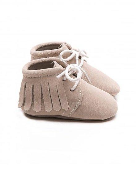 Mockies Boots Suede Fringe Beige