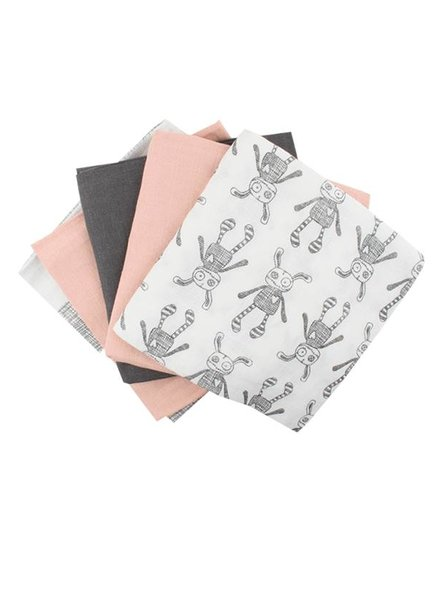 Small Rags Swaddle Set 70x70 Old Pink