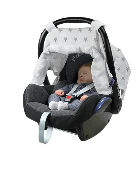 Dooky Adjustable Car Seat Canopy Hydrofiel Silver Stars