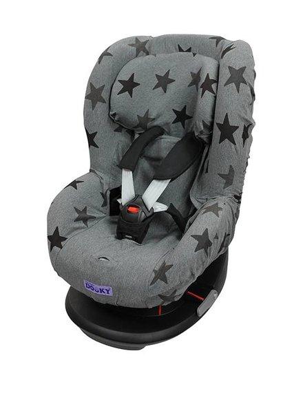 Dooky Seat Cover Grey Stars Groep 1