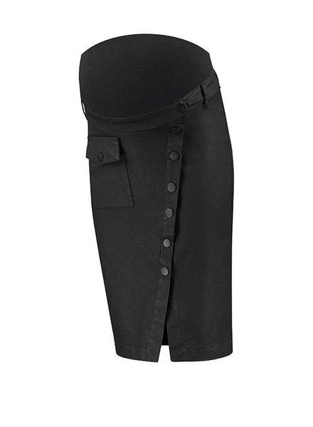 Love2Wait Skirt Buttoned Coated Black