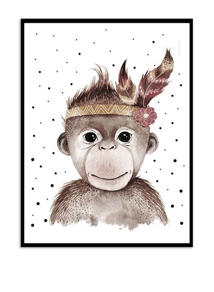 Kreativitum KIDS Poster Feather Monkey 30x40 cm
