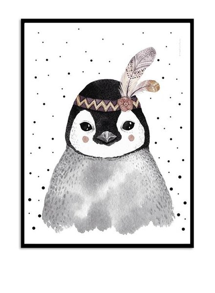 Kreativitum KIDS Poster Feather Penguin 30x40 cm