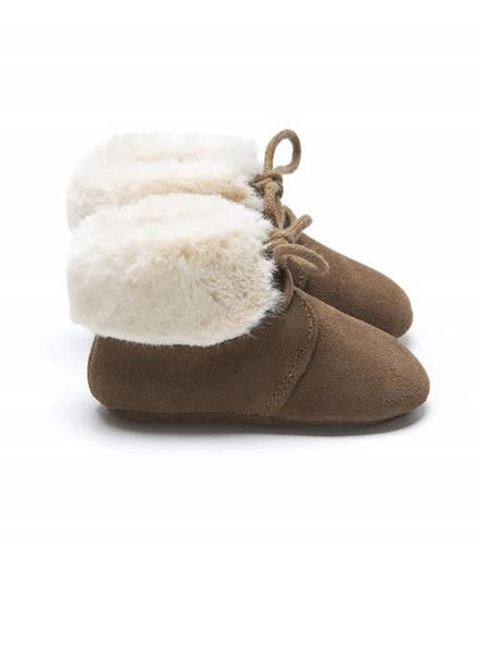 Mockies Fur Boots Brown