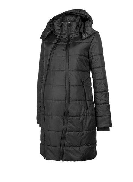 Coat Double Zipper Padded Black