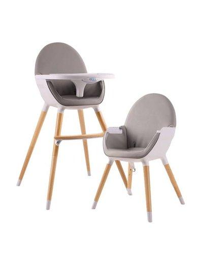 Kees Kees Hi Chair Grijs (Lederlook)