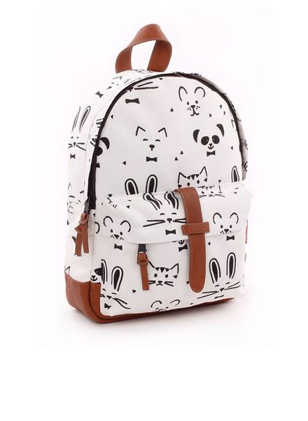 Kidzroom Rugzakje Zipper Black & White Animals