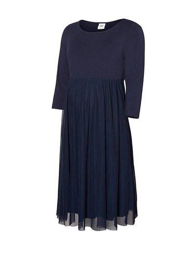 Mama Licious Mama Licious Bianka 3/4 Knee Dress Blue