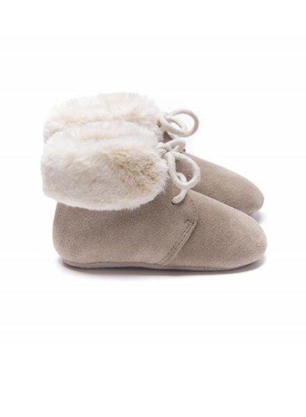 Mockies Fur Boots Beige