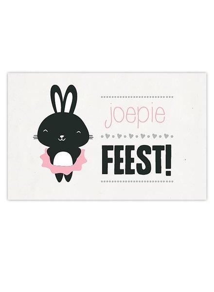 Leuke Kaartjes DOT Poes - Joepie Feest!