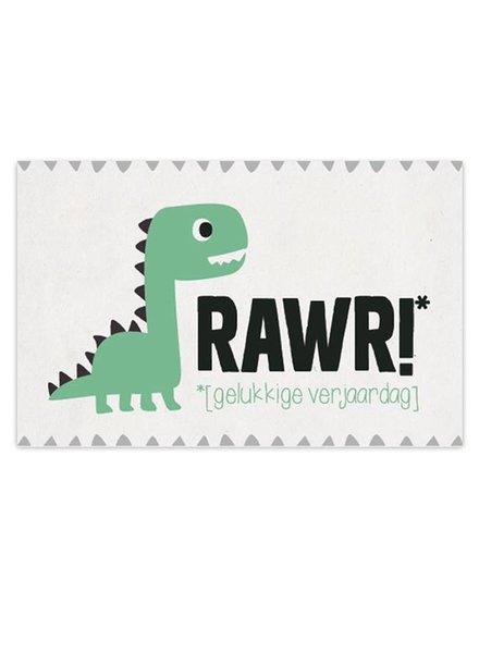 Leuke Kaartjes DOT Dino - Rawr