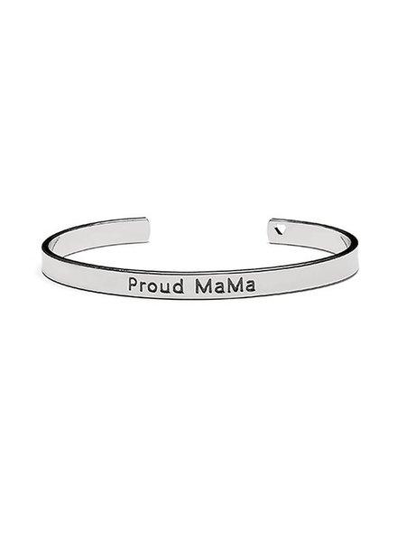 Proud Mama Armband Bangle Zilver