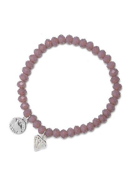Proud Mama Armband Charm Diamond Oud Roze