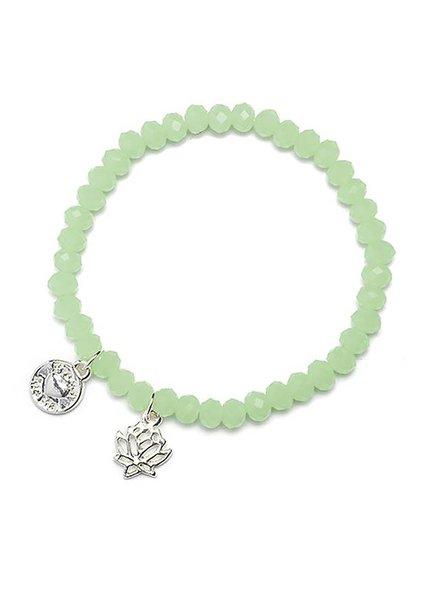 Proud Mama Armband Charm Lotus Mint