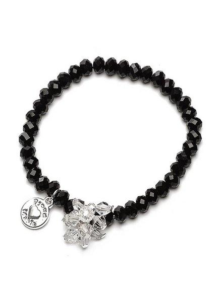 Proud Mama Armband Charm Beads Zwart
