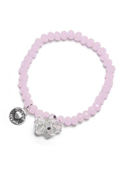 Proud Mama Armband Charm Beads Roze