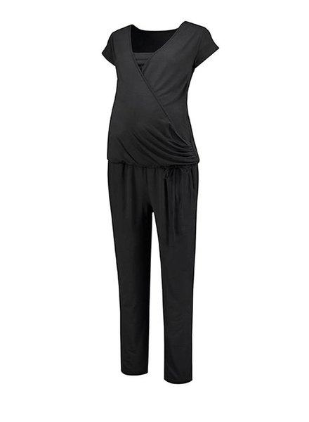 Love2Wait Jumpsuit Nursing Black