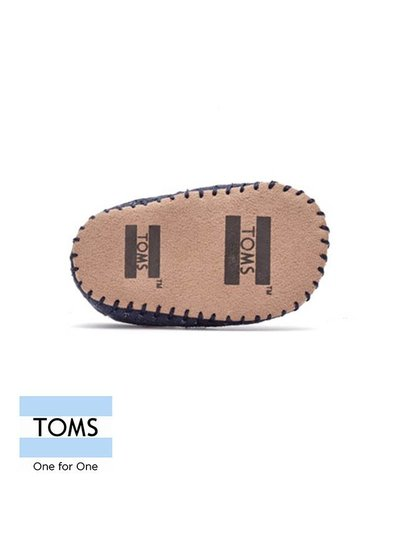 Toms Tiny Toms Alpargata Navy Cancas