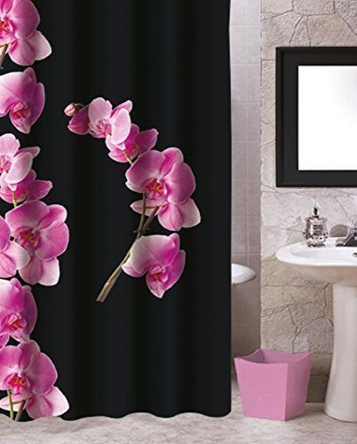 Douchegordijn Orchidee  Br.180 x H.200