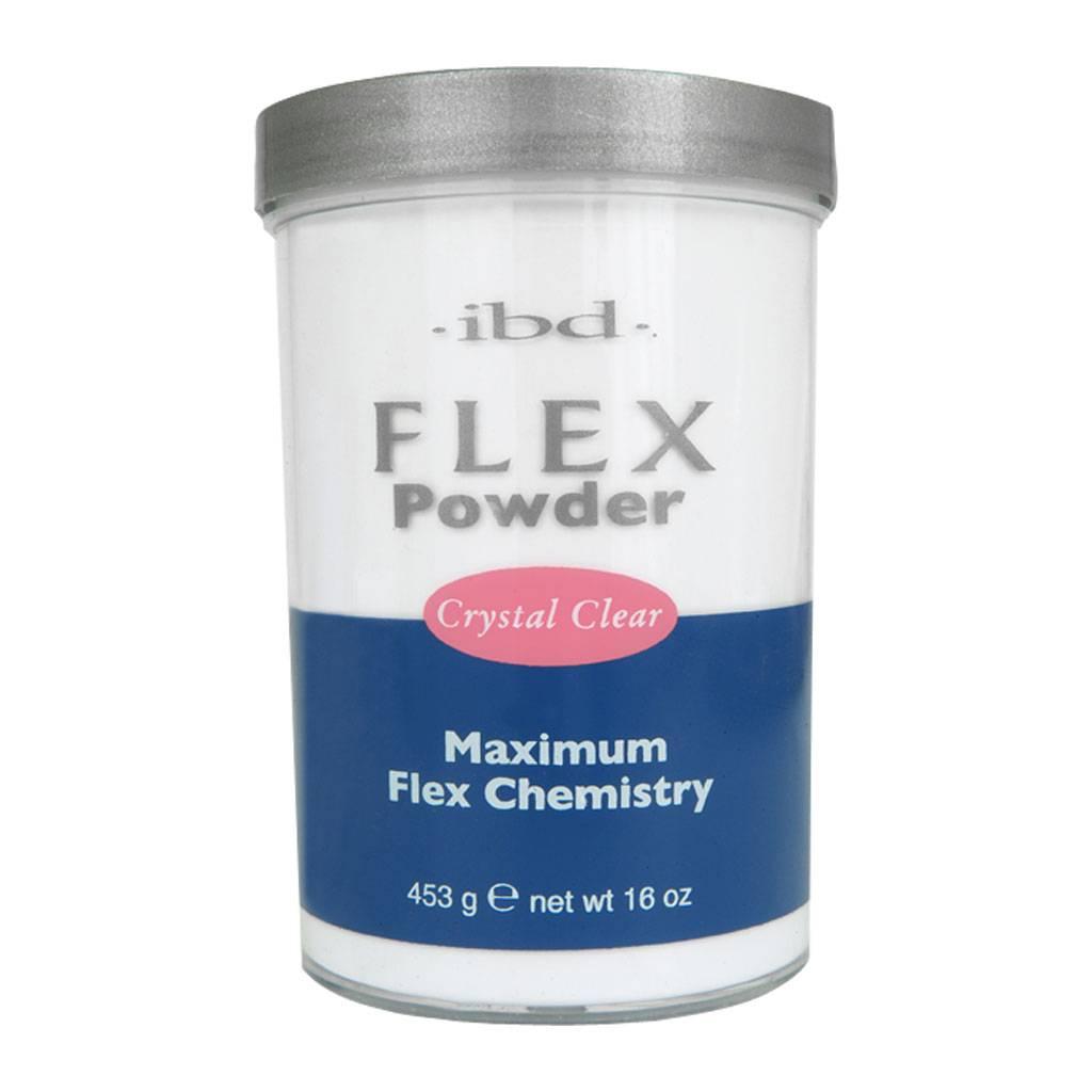 IBD Flex Powder Crystal Clear 452g - Nail Discount