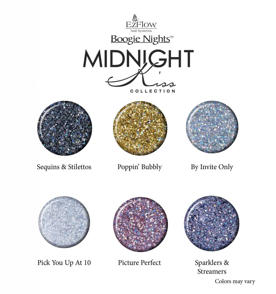 Ez Flow Boogie Nights Midnight Kiss Collection - Kit 6 pcs - Nail ...