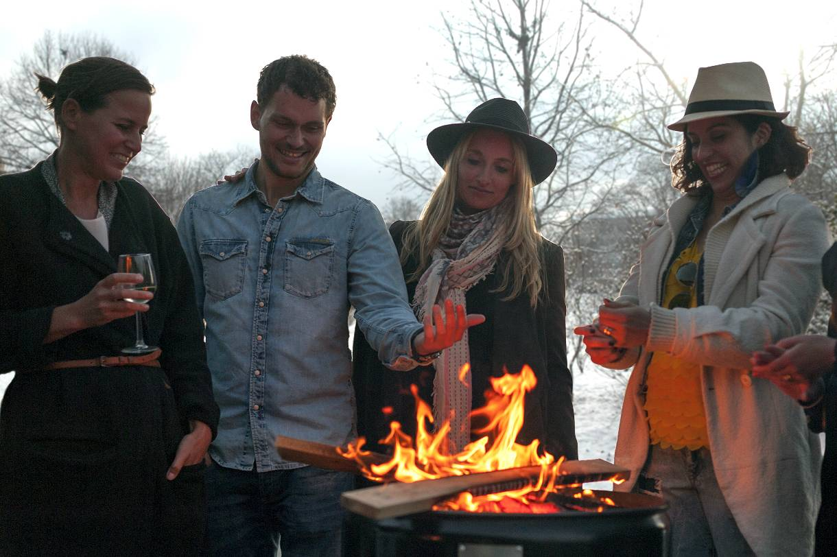 Barbecue als vuurkorf